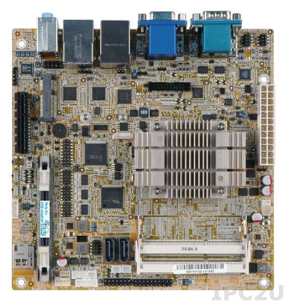 KINO-ABT-i2-J19001-R10 Процессорная плата Mini-ITX, Intel Celeron J1900 (10Вт), 2x204-pin 1066/1333 DDR3L, VGA, HDMI, 2xCOM, 2xRJ-45, 2xUSB 2.0, 2xUSB 3.0, 1xPCIe x1, 2xSATA 3Gb/s, HD Аудио