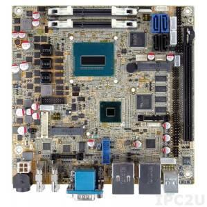 KINO-DQM871-i1-i5E Процессорная плата Mini-ITX SBC, Intel Core i5-4402E, чипсет Intel Q87, 204-pin DDR3 1066/1333/1600МГц, VGA, 2xHDMI, LVDS, iDP, 5xRS-232, 1xRS-232/422/485, 8xUSB 2.0, 4xUSB 3.0, SATA 6Gb/s, 2xGB LAN, HD Audio, iRIS-1010