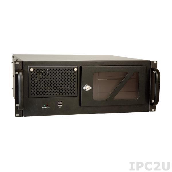 """RACK-305GB-R22/ACE-935AL 19"""" корпус 4U, Для 14 слотовой объединительной платы, USB, ИП ACE-935AL-RS 300Вт, AT кнопка включения, черный"""