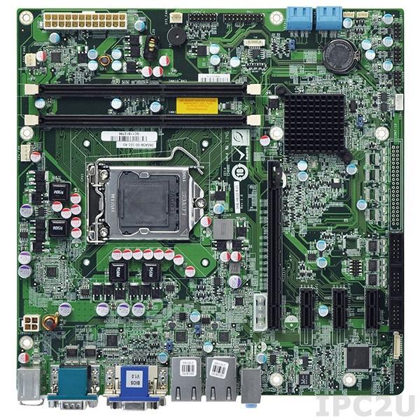 IMB-H610B-R10 Процессорная плата Micro-ATX LGA1155 32нм Intel Core i7/i5/i3 с Intel H61, DDR3, VGA/DVI-D, 2xGb LAN, 10xCOM, 10xUSB, 4xSATAII-300, HD Audio, слоты 1xPCIe x16, 3xPCIe x1