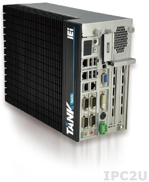 "TANK-860-HM86i-i5/4G/2A-R10 Защищенный компьютер Intel Core i5-4400E 2.7Ггц, Intel HM86, 4Гб DDR3 RAM, VGA/DVI-I/DisplayPort, 2xLAN, 4xCOM, 6xUSB, 2xPCIe x8 (физически слоты PCIe x16), 2 отсека 2.5"" SATA HDD, CFast, mSATA, Audio, -20...+70C, iRIS-2400 опция, 9В~36В DC"