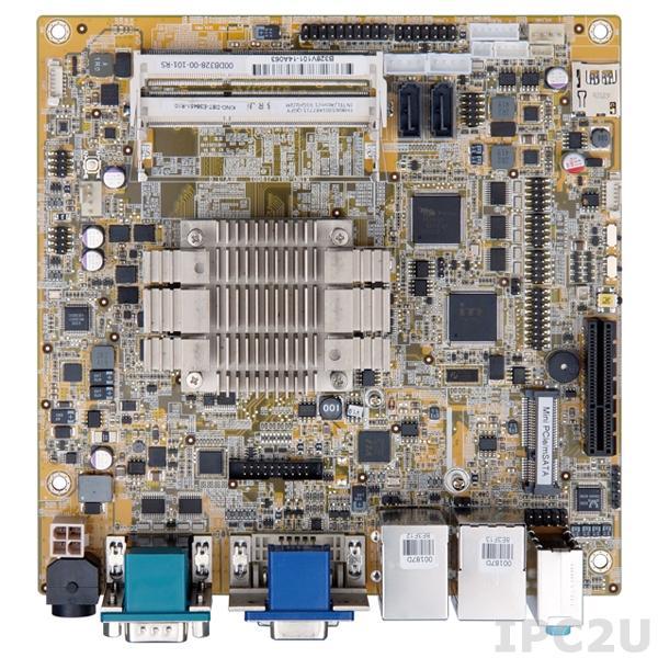 KINO-DBT-N28071-R10 Процессорная плата Mini-ITX SBC, Intel Celeron N2807 1.58ГГц, VGA, DVI-D, iDP, 5xCOM, 6xUSB 2.0, 2xUSB 3.0, 2xGbE LAN, 2xSATA 2, TPM, SMBus, Аудио, RoHS