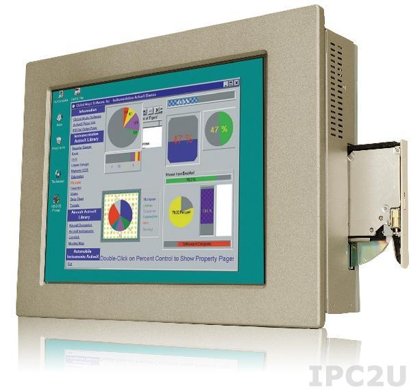 "PPC-5190A-H61-P/R-R10 Панельная рабочая станция с 19"" TFT LCD, алюминиевая передняя панель, Intel Dual Core G6xxT (свыше 2,2ГГц), TDP 35Вт, 2х2Гб DDR3, отсек 1x2.5"", отсек для Slim DVD-ROM, 1xCF II, 1xPCI или 1xPCIe, БП ACE-A622A"