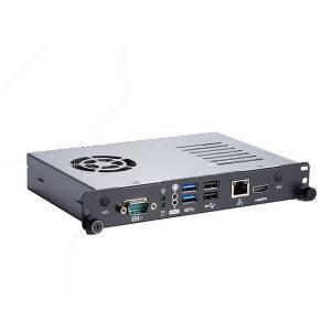 OPS500-520-H Цифровой медиапроигрыватель Open Pluggable Specification, LGA1151 сокет для 8th gen Intel Core i7/i5/i3/Celeron, чипсет Intel H310, 2 x 260-pin SO-DIMM DDR4-2400, HDMI, GB LAN, COM, 2xUSB 2.0, 2xUSB 3.1, Audio, JAE TX-25