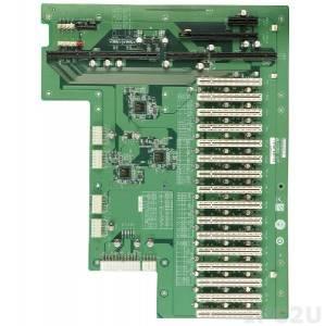 PXE-19S2-R10 Объединительная плата PICMG 1.3 19 слотов с 1xPICMG, 1xPCI-Express x16, 1xPCI-Express x1, 16xPCI слотами